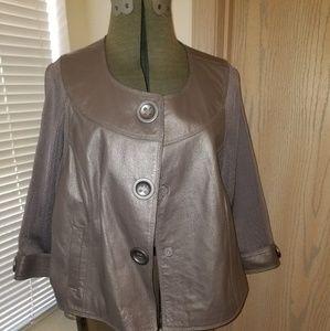 Nygard Grey Leather/Combo Jacket